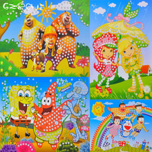 2 pc large crystal diamond sticker 3D creative design of children handmade mosaic art sticker early childhood educational toys