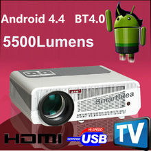 5500Lumens 1080P Android 4.4 WiFi Smart 230W LED Lamp 3D Home Theater Projector Bluetooth 4.0 Full HD Portable Video TV Beamer