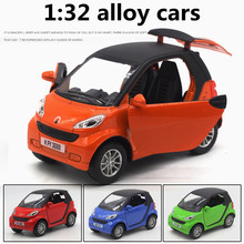 1:32 alloy cars,high simulation Smart elf model,metal diecasts,toy vehicles,pull back & flashing & musical,free shipping