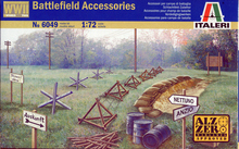 Out of print! 6049 ITALERI WWII- ACCESSORIES 1/72 DIORAMA ACCESSORY PLASTIC KIT SCALE 1/72(China)