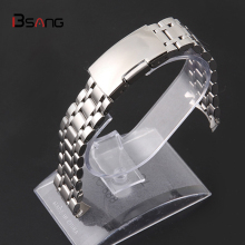 New Fashion 18MM 20MM 22MM Metal watch ccessories watch with stainless steel solid steel strap men and women general Clock band