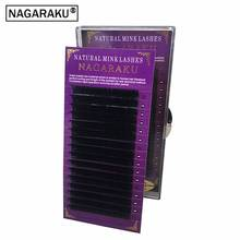 NAGARAKU High quality eyelash extension mink,individual eyelash extension,natural eyelashes,fake false eyelashes,1case(China)