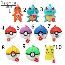 USB Flash Drive Pokemon Ball PenDrive Cartoon Pikachu Gift Pen Drive 4GB 8GB 16GB 32GB Cartoon Elf Ball USB Flash Drive PenDrive