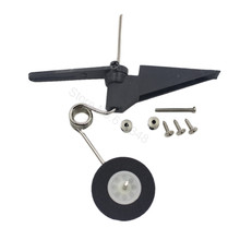 RC Airplane Tail Wheel Assembly 60x25mm D28 /30 Parts Aeromodelling For 50-120cc Nitro Electric Power Jet 540T(China)