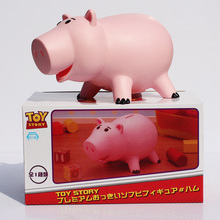 "Toy Story Toy Figure Hamm Piggy Bank Pink Pig Coin Box PVC Model Toys For Children 8""20cm With Box Free Shipping"