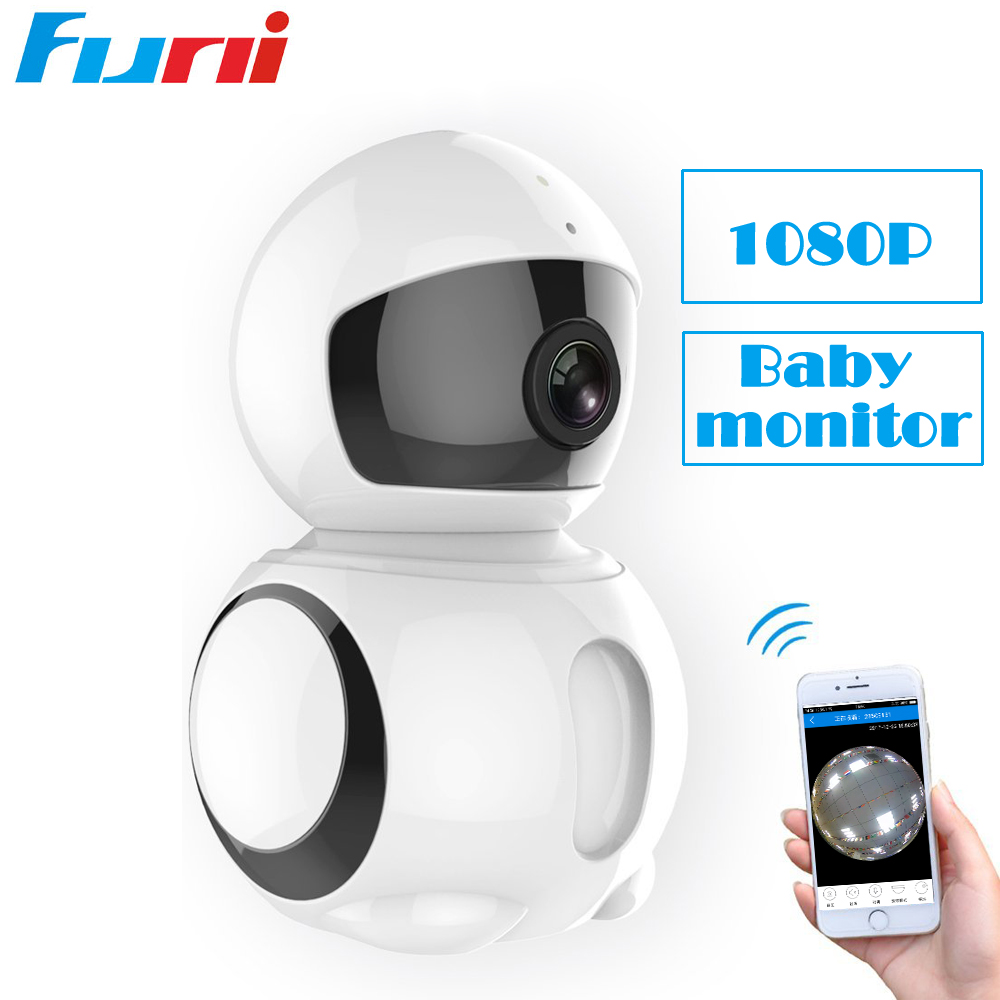 Funi 1080P Wifi Camera Wi-fi Home Security Panoramic VR Camera Night Vision Video Surveillance Support 64G SD Card IP Cam Indoor<br>
