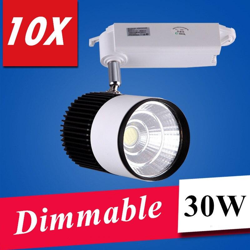 2016 LED lights Wholesale Retail 30W COB Dimmable Led Track Light,Spot Wall Lamp,Soptlight Tracking led AC85-265V light<br>