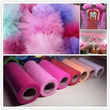 2016 22mX15cm Crystal Tulle Rolls Organza Sheer Gauze Element Table Runner Tissue Spool Craft Party Wedding Decoration 6zSH759