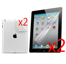 "2 Sets New LCD Clear Full Body Films Front and Back Screen Protector Film Guards For Apple iPad 2 3 4 iPad2 iPad3 New iPad4 9.7""(China)"