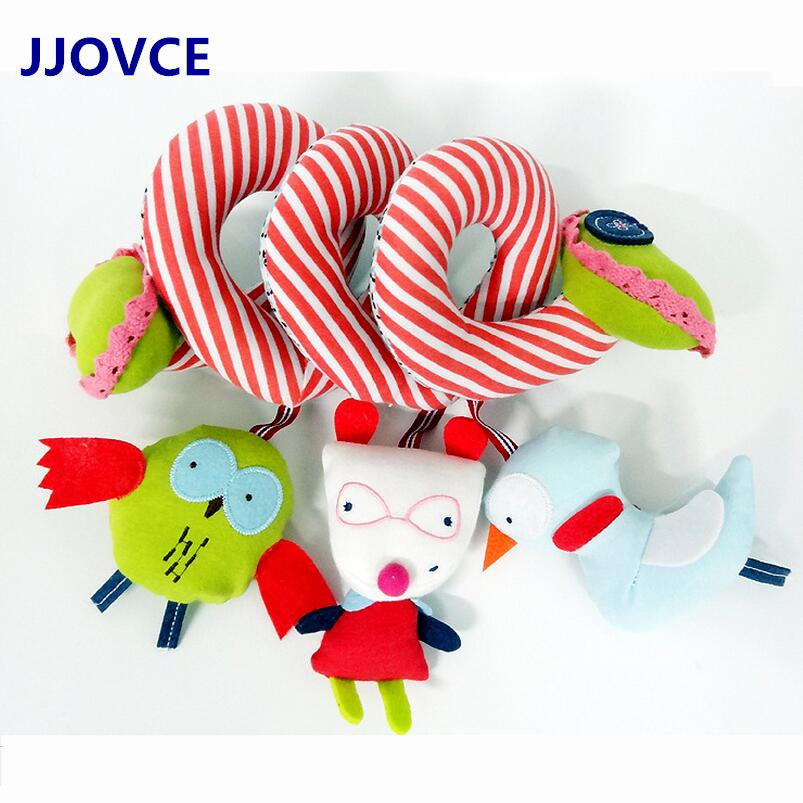 Baby Owl Birds Rattle Toys Newborn baby Bed Strollers Hanging bells Baby Educational Music Rattles Stuffed Plush Toys(China (Mainland))
