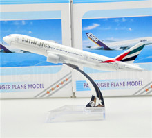 The United Arab Emirates Airline B777 16cm airplane child Birthday gift plane models kits toys Free Shipwping Christmas gift(China)