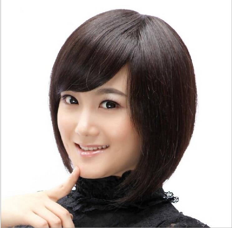 Fashion BOB Style Womens Lady Short Hair Wigs Full Bang Light Brown/Dark Brown/Black Wig Synthetic Wig Cosplay Hair<br><br>Aliexpress
