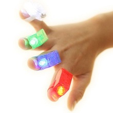 LeadingStar Colorful 4pcs LED Finger Lamps Great Children Toy Party Dress Up Tools zk 30(China)