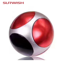 Surwish New Type Football Round Finger Spinner Fidget Toy Perfect for ADHD Anxiety Reduce - Red + Black(China)