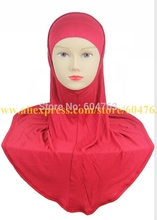 20pcs/bag white,black or mix colors SOLID COLOR PLAIN Softy cotton TWO piece muslim hijab,2 piece HIJAB(China)
