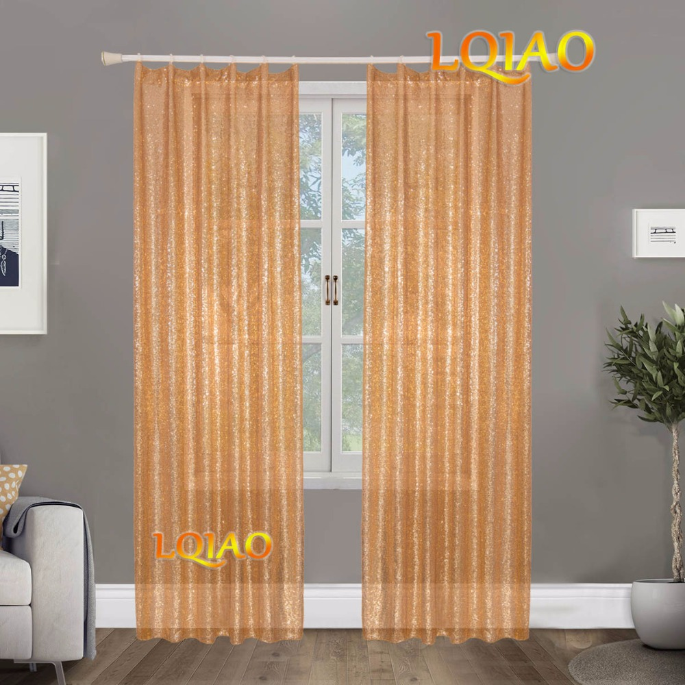 Gold Sequin Curtain-003