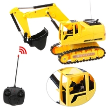 New Coolest Wireless Remote Control Simulation Excavator 8 Channel Construction Tractor Truck Digger Car Kids Toy(China)