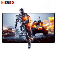 NIERBO Projector Screen 100 inch Rolled Up 16:9 Portable Screen for Projector Outdoor Indoor for Home Theater Office Full HD 3D(China)