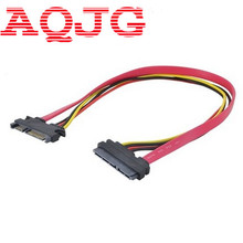 1PC 30cm 22Pin SATA Cable Male to Female 7+15 Pin Serial ATA SATA Data Power Combo Extension Cable Connector Conterver(China)
