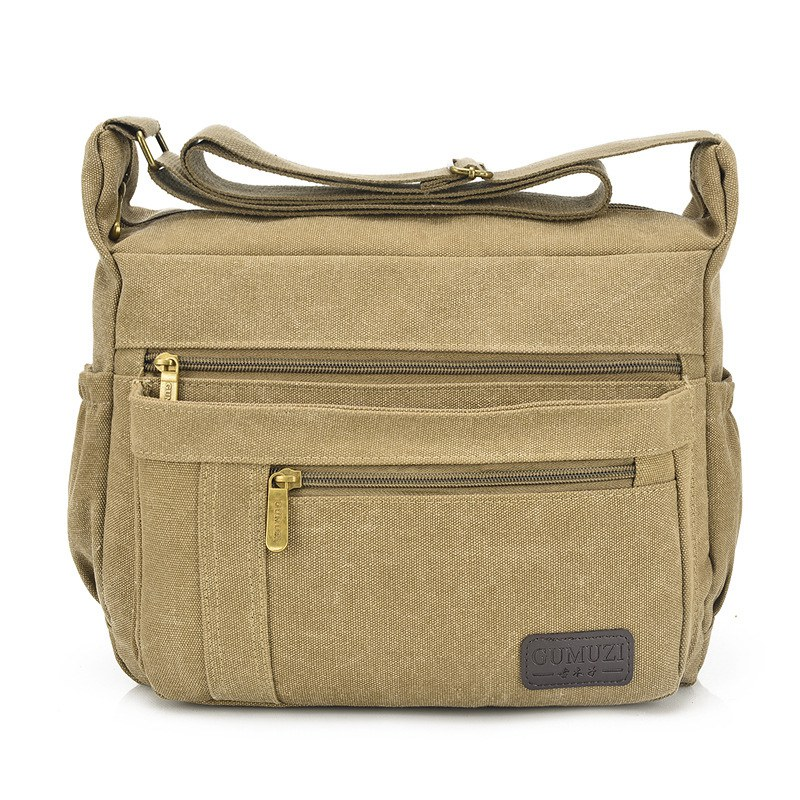 Hot Classic MAN's Shoulder Bag,Men's Vintage Canvas School Military Travel Handbags Messenger Bag Bolsas sac a main High Quality(China)