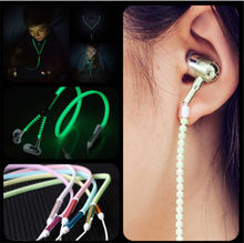 Zipper 3.5mm Super Stereo Light In Ear Earphones Luminous Earbuds For iPhone For Xiaomi Huawei Samsung With Mic