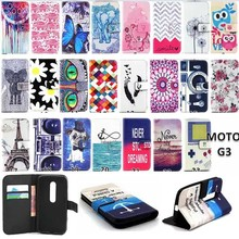 Luxury Leather Flip Phone Case PU For Motorola Moto G3 Case G 3rd Gen XT1541 G 3  Wallet Pouch Stand Cover card For Moto G3 case