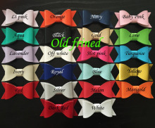 24pcs/lot 22 color Newest Synthetic Leather Hair Bow With Clips, Hair Clips barrettes accessoires
