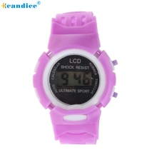 Hot Selling Fashion Boys Girls Students Time Clock Electronic Digital LCD Wrist Sport Watch Creative