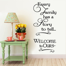Welcome to our home Family quote wall decals decorative removable heart vinyl wall stickers Home Decor Bed Room Home Decoratrom