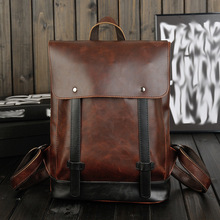 Men's shoulder bag Korean style influx high school students backpack  retro bags casual man  manufacturers vintage backpack men