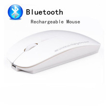 Bluetooth 3.0 Wireless Rechargeable Mouse Mute Silent Mice for Android Tablet MAC Book Laptop