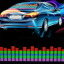 Universal Car Multicolor Music Rhythm Sticker 12V Sound Activated EL Sheet Equalizer