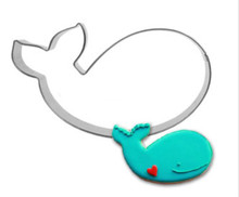 Whale Mold Kitchen Toys Cake Fondant Biscuit Press Icing Set Stamp Cookie Cutter Tools Stainless Steel