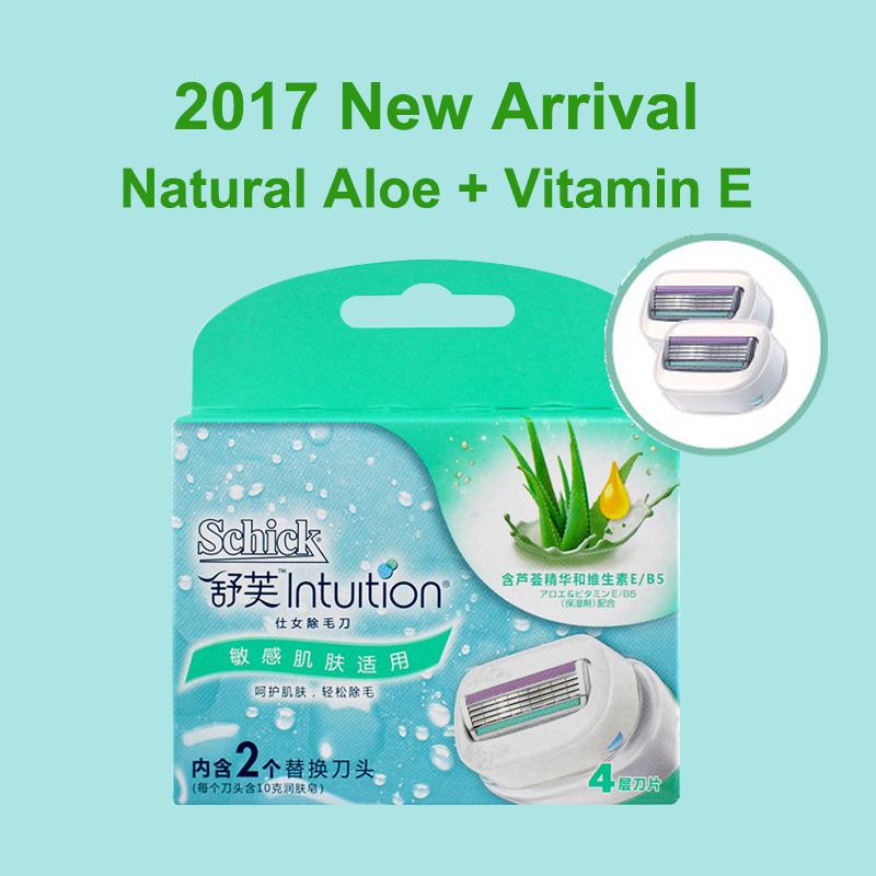 17 New Schick Intuition Razor Blades Advanced Moisture Shaving women shaver Girl's epilator Body Bikini Face Leg Arm Underarm 2