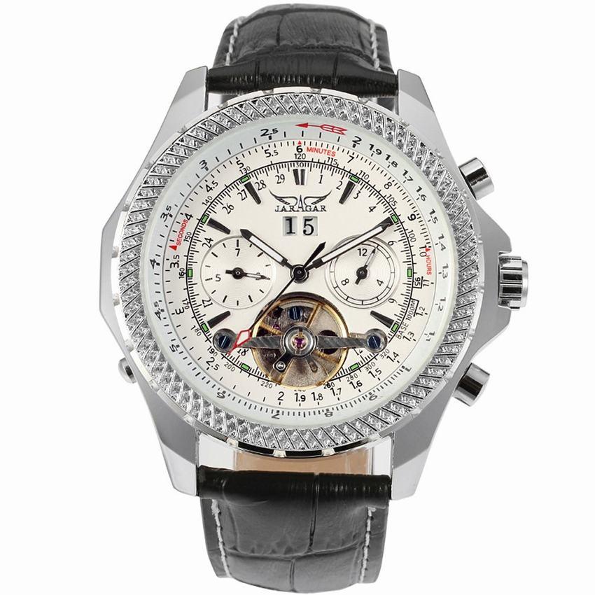 JARAGAR Watches Men Luxury Brand Auto Mechanical Watch 4 Hands Date/Day Tourbillon Clock Mens Wristwatch Relogio Masculino<br>