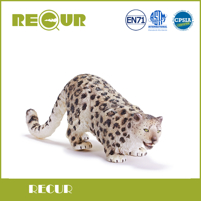 Recur Toys  Male Snow leopard simulation wild Animal Model Toy Hand Painted Action Figure Soft Toys For Children and collectors<br>