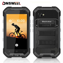 "Blackview BV6000 4G Smartphone Waterproof IP68 4.7""HD MT6755 Octa Core Android 7.0 Mobile Phone 3GB+32GB 13MP GPS NFC Cell phone(China)"