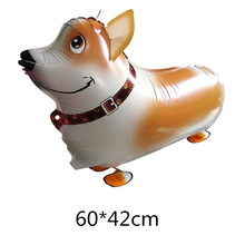 1Pcs/Lot Cute Dog Pet Animal Helium Walking Balloon Baby Shower Foil Balloons Party/Birthday/Wedding Decorations Kids Toys