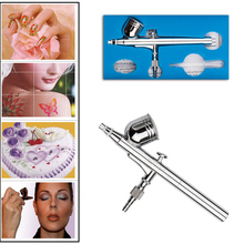 Dual Action Airbrush Aerograph Kit Air Brush Nail Spray Pen Body Paint TattooS acrylic paints Art beautician Makeup