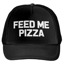 FEED ME PIZZA Letters Print Baseball Cap Trucker Hat For Women Men Unisex Mesh Adjustable Size Drop Ship M-156