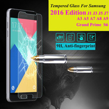 Tempered Glass Screen Protector Film For Samsung Galaxy 2016 A3 A5 A7 A8 J1 J1 mini J3 J5 J7 S6 Grand Prime Phone Case Cover