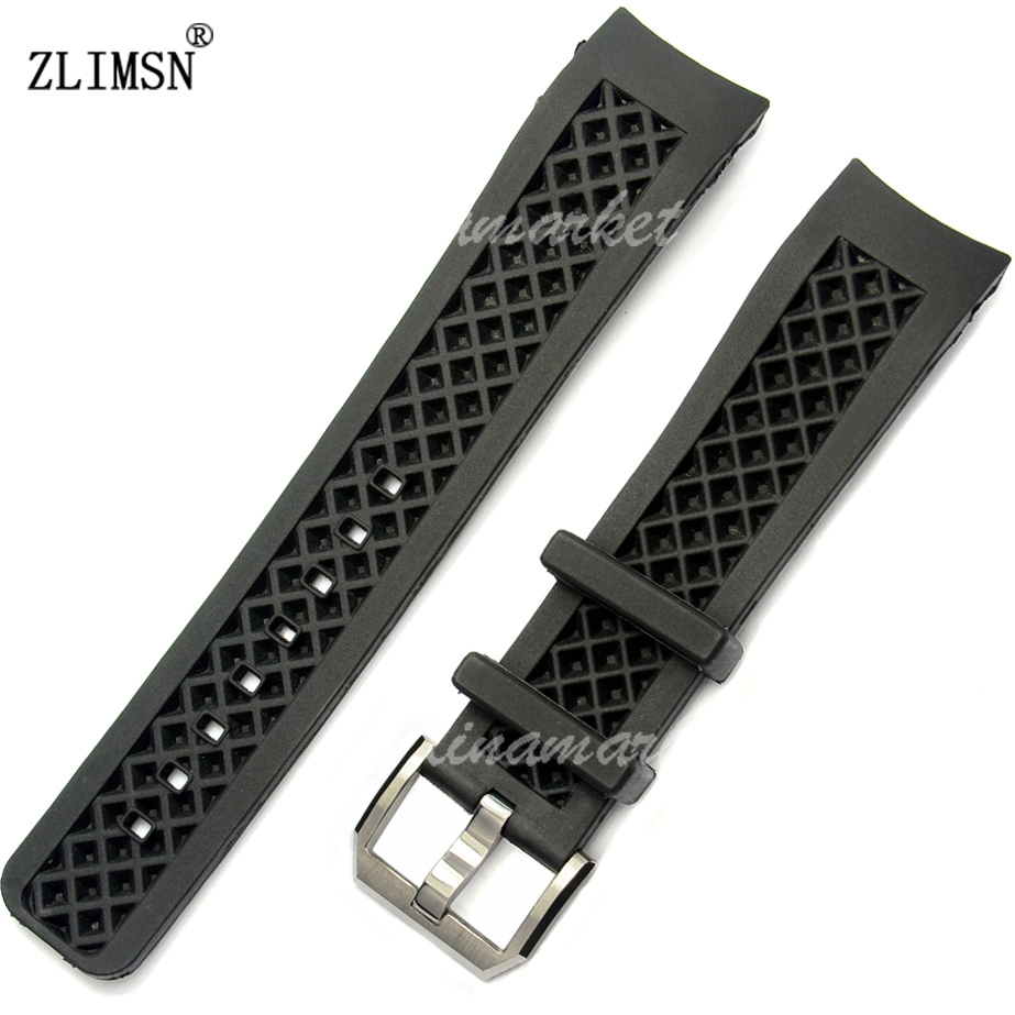 22mm Watchbands Black Curved End Diver Silicone Rubber Watch Bands Strap Buckle  FOR IWCWATCH Relojes Hombre 2017 IWC305<br><br>Aliexpress