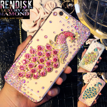 Fashion Diamond Peacock Rhinestone Case Jewelled Bling cover For Samsung Galaxy J2 2015 J200 Crystal cases