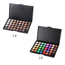 11.12 40 Colors Professional Women Facial Long Lasting Luminous Eyeshadow Palette Eye Cosmetic Makeup Tools 2016 Hot Sale(China)