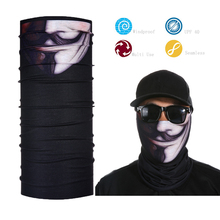 Black Men's Face Shield Bandana Skull Tube Bandana Face Mask