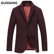 GUIXIANG 2017 autumn New style Men's suits casual fashion Classic red blazer men jackets, Men's woolen business blazers man