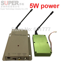 5w 1.2G transceiver,1.2G Video Audio Transmitter Receiver,cctv camera transmitter 1.2G CCTV transmitter cctv accessories