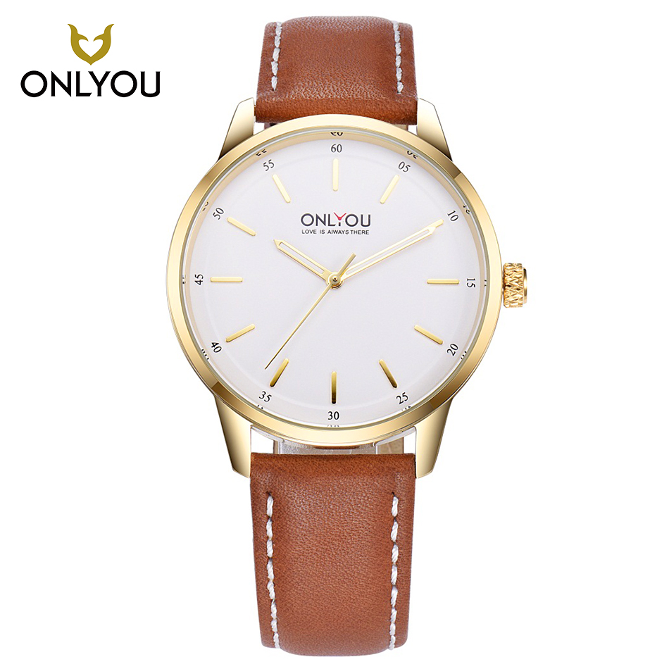 ONLYOU Men Sport Watches Top Brand Luxury Boy Art Wind Gray Black Band Leisure Business Quartz Watch Simple Watch Leather Band  <br>