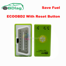 Gasoline Version With Reset Button EcoOBD2 Chip Tuning Box Plug & Driver Eco OBD2 For Benzine Cars Green Color 15% Fuel Save