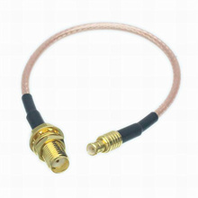 ALLISHOP 1M RF Coaxial Cable SMA to MCX Connector SMA Female to MCX male Plug RG316D Double Shield Silver Pigtail Cable
